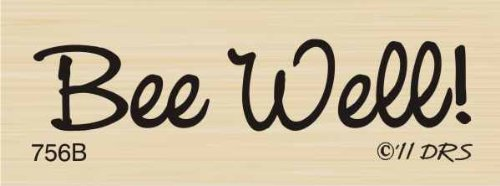 One Line Bee Well Rubber Stamp By DRS Designs