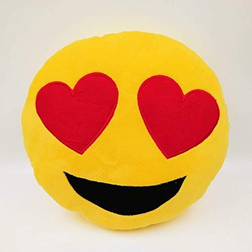 VS Group Velvet Fabric Emoticons Whatsapp Love Eyes Smiley Emoji Plush Pillows  35 cm