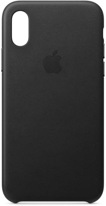 Apple Funda Leather Case (para el iPhone XS) - Negro