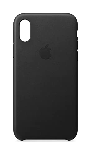new product f14cb ced62 Apple Leather Case (for iPhone Xs) - Black