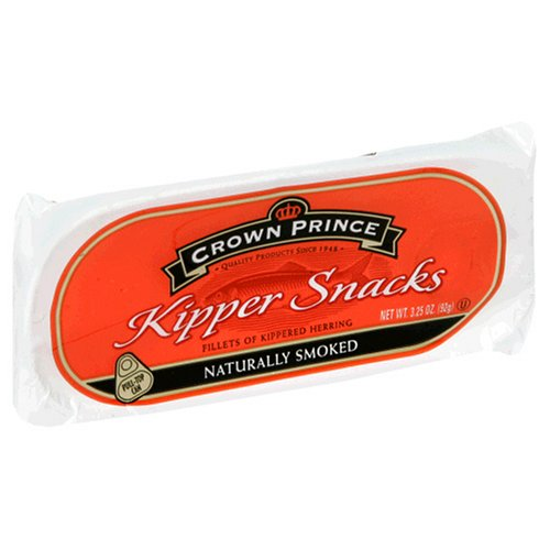 Crown Prince Kipper Snacks, 3.25-Ounce Packages (Pack of 24)