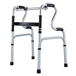 Qivor Plegable Walker Ancianos Walker Aluminio de Doble Uso ...