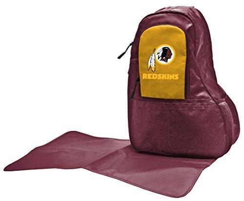 Wild Sports NFL Washington Redskins Diaper Sling Bag, 17 x 13 x 7-Inch, Red by Wild Sports