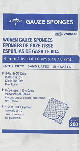 MEDLINE NON21424 NON21424H Woven Sterile Gauze Sponges Pack of 50 (3 Pack)