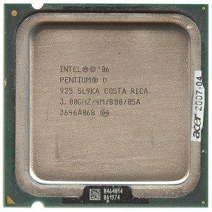 (Intel Pentium D 925 3.0GHz 800MHz 4MB Socket 775 Dual Core CPU)