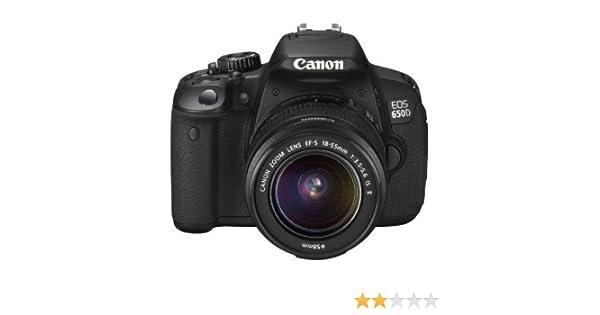 Canon EOS 650D - Cámara Réflex de 18 megapíxeles con pantalla ...