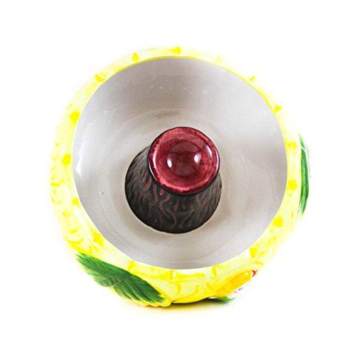 Tiki Volcano Ceramic Drink Bowl - 32 Ounces Scorpion Cocktail Vessel
