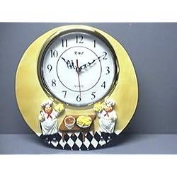 ITALIAN Fat CHEF 3-Dimensional 12 Wall Clock BRAND NEW