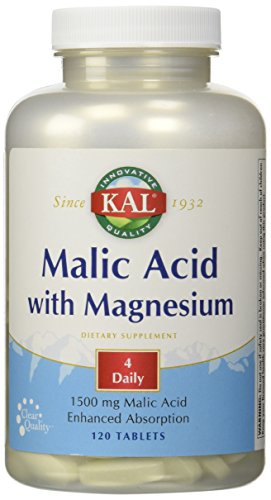 Malic Acid With Magnesium - 120 - - Magnesium Acid Malic Vitamins