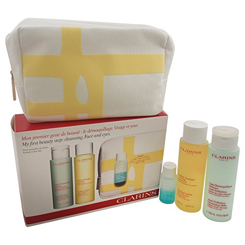 Clarins My First Beauty Step Cleansing Face and Eyes Gift Set, Normal or Dry Skin