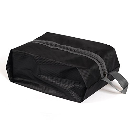 Enterest Large Capacity Shoe Bag Waterproof Travel Shoe Bag Storage Bag with Zipper Closure 210D Nylon Material Perfect Organizer for Men And Women Handbag Design (Black)