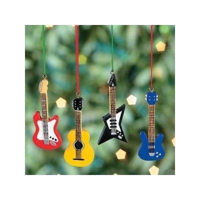 "Oriental Trading 12 Mini 3"" GUITAR Christmas ORNAMENTS/BA..."