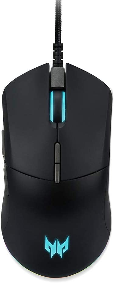 Acer Predator Cestus 330 Gaming Mouse: 16000 On-The-Fly DPI - RGB Lighting - 7 Programmable Buttons - on-Board Memory - 5 Profile Settings - Pixart 3335 Sensor - Black