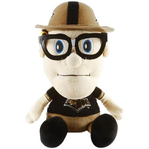 NCAA Purdue Boilermakers Study Buddy Mascot, Medium, Brown (Mascot Stuffed Toys Plush)