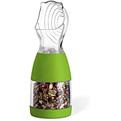 ZevrO KCH-06268 Portion Grind Spice Grinding/Measuring Tool, 3.4-Ounce Capacity, Green