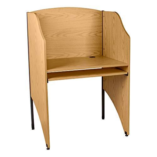 Norwood Commercial Furniture Single-Sided Study Carrel- Starter Unit- Oak