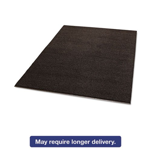Crown DEMB46BR Spaghetti Vinyl-Loop Floor Mat, Vinyl, 48 x 72, Brown by Crown