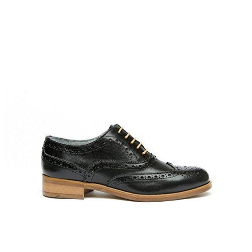 Ville Femme Lacets Daniel Pour Chaussures Oxford Frank de Noir à Noir qYxHIy8w
