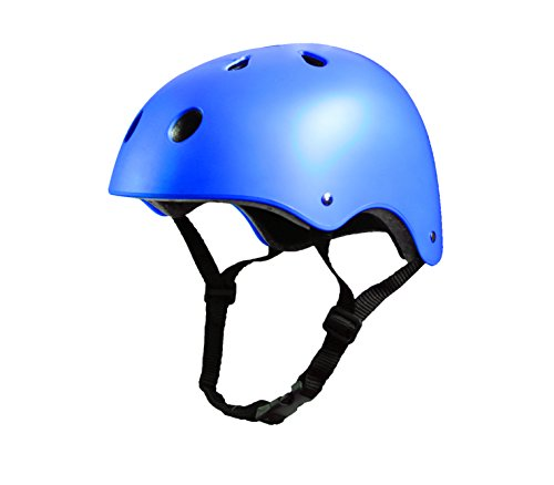 Tourdarson Adult Skateboard Helmet Specialized Certified Protection Multi-Sports for Scooter Skate Skateboarding BMX (Blue, Large)