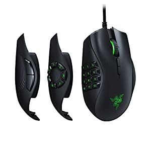 Razer Naga Trinity Gaming Mouse: 16,000 DPI Optical Sensor - Chroma RGB Lighting - Interchangeable Side Plate w/ 2, 7…
