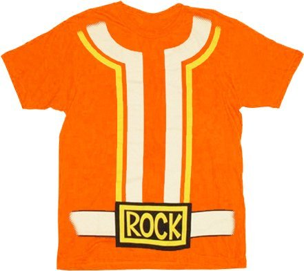 Yo Gabba Gabba DJ Lance Costume Adult Orange T-shirt (Adult Medium)