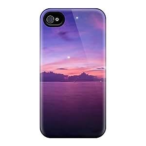 New Gorgeous Purple Sunset Tpu Case Cover, Anti-scratch STWanke Phone Case For Iphone 4/4s