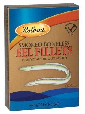 Smoked Salmon Sushi (Roland Smoked Boneless Eel Fillets 3.66 Oz (100 Pack))