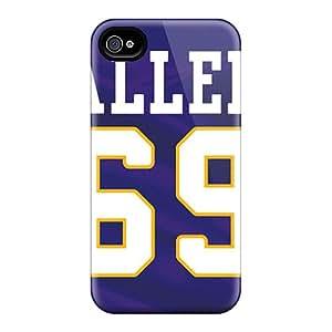 Cute Appearance Cover/tpu ZJu8191mygL Minnesota Vikings Case For Iphone 4/4s