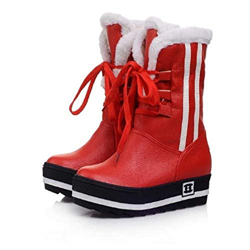 horizontales Anti Botas Fmwlst Invierno Zapatos esquí De Anti Cálidos Mujer OwXwSqI