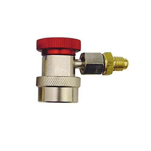 Zero HVAC 1/4 Red High Side Quick Connector For R134A Refrigeration and Air Conditioner 400QC17H