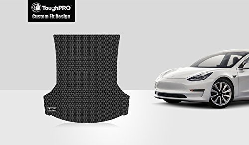 ToughPRO Tesla Model 3 Trunk Mat - All Weather- Heavy Duty - Black Rubber - 2017-2018 (Cargo Mat Model)