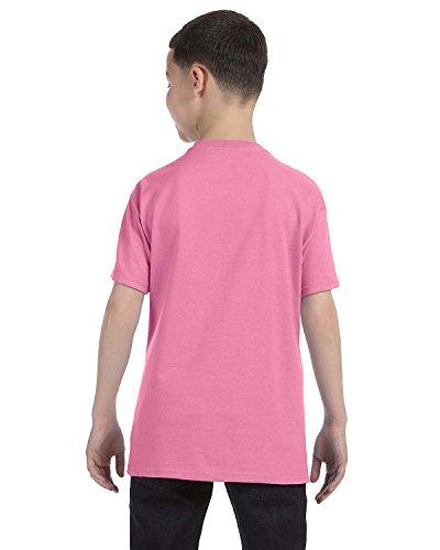 Jerzees Youth Heavyweight Blend T-Shirt, Azalea, X-Large (Azalea Youth Heavyweight T-shirt)