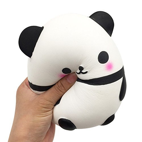 Price comparison product image Tuko Jumbo Squishies Slow Rising Panda/Car Squishy Kawaii Cream Scented Squishies Kids Toys Doll Gift Fun Collection Stress Relief Toy Hop Props, Decorative Props (Squishy panda)