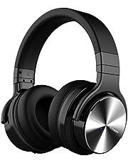 cowin E7 Pro [2018 Actualización] Auriculares inalámbricos Bluetooth con micrófono Hi-Fi de Graves Profundos, (Hi-Res Audio, cancelación de Ruido, Bluetooth,30 Horas de autonomía) - Negro