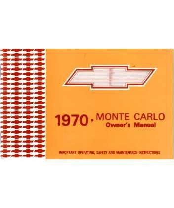 (1970 CHEVROLET MONTE CARLO Owners Manual User Guide)