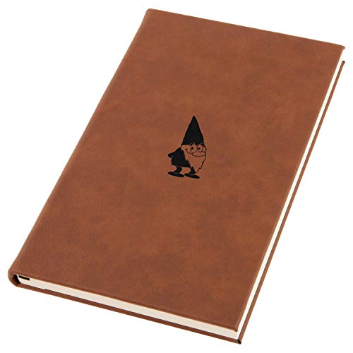 Garden Gnome Engraved A5 Leather Journal, Notebook, Personal Diary