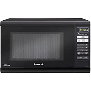 Microwave Oven Compact Countertop Panasonic Electric Black 1200 Watt Inverter Cookware With Free Pot Holders
