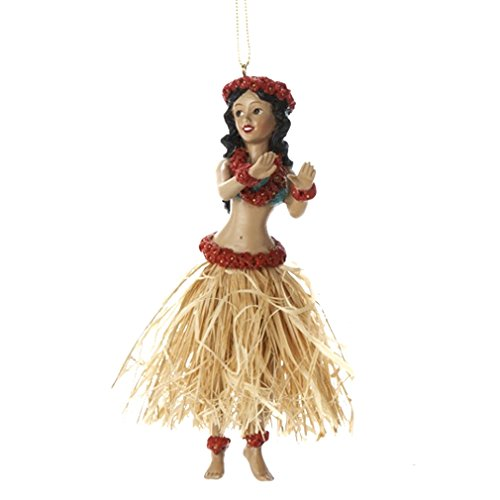 Kurt Adler Hawaii Hula Girl Dancer Christmas Ornament - 5