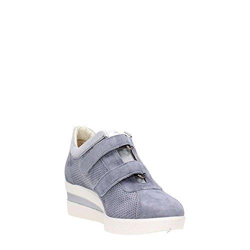 R20108 JEANS Scarpa donna Melluso sneaker zeppa pelle made in Italy