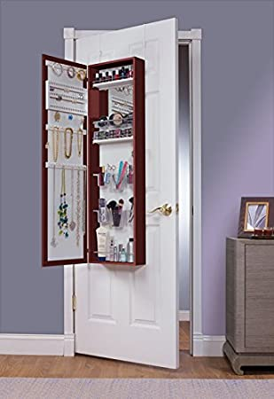 Charmant Mirrotek EVA48CH Over The Door Combination Jewelry And Makeup Armoire,  Cherry Finish