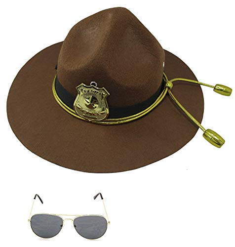 Super State Trooper Mountie Hat Aviators Costume Kit,