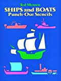 Ships and Boats Punch Out Stencils, Theodore Menten and Ted Menten, 0486250490
