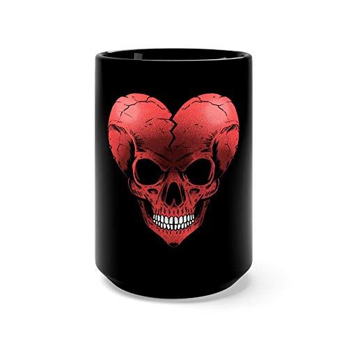(Broke skull heart 15 Oz Ceramic Glossy Gift For Coffee Lovers Quote Mug Gifts For Men &)