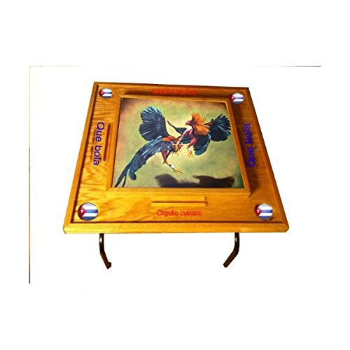 Gallos Domino Table with Cuba Flag by latinos r us
