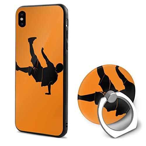 Kinggo Dancers Breakdance Dancer IPhone X Mobile Phone Shell Ring Bracket White 48 ()