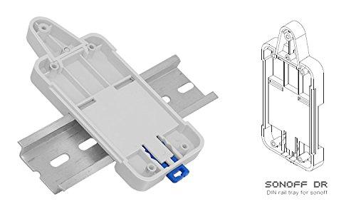 Fornateu Sonoff DR DIN-Schienen-Fach Verstellbare montierte Schiene Fall Halter Rack Mount-L/ösung f/ür Sonoff Produkte