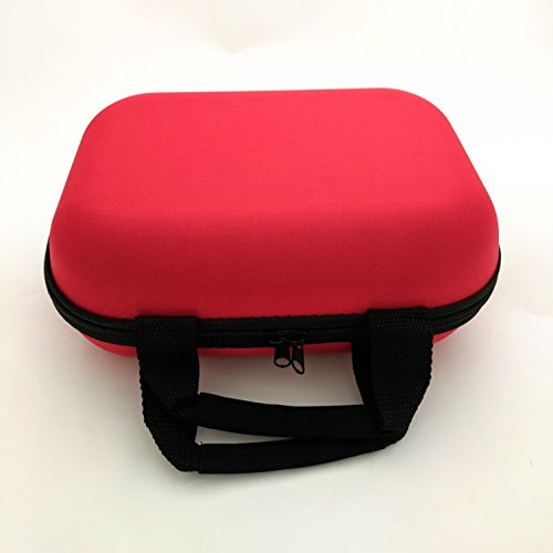 Padded Pipe - XL Large Zippered Padded Pouch Hard Carrying Case Protective Glass Storage for Pipes (Red)
