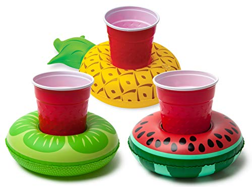 BigMouth Inc. Beverage Boats, Cupholder Floats for Pool Parties (Tropical) , Multi-Colour, One Size -