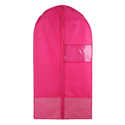 Costume Garment Bag with Pockets for Dance Competitions Garment Bags Storage Hanging Breathable Garment Covers Bag (rose, M) by Nimiman