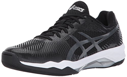 ASICS Women's Volley Elite FF Volleyball-Shoes, Black/Dark Grey/White, 9 Medium US by ASICS
